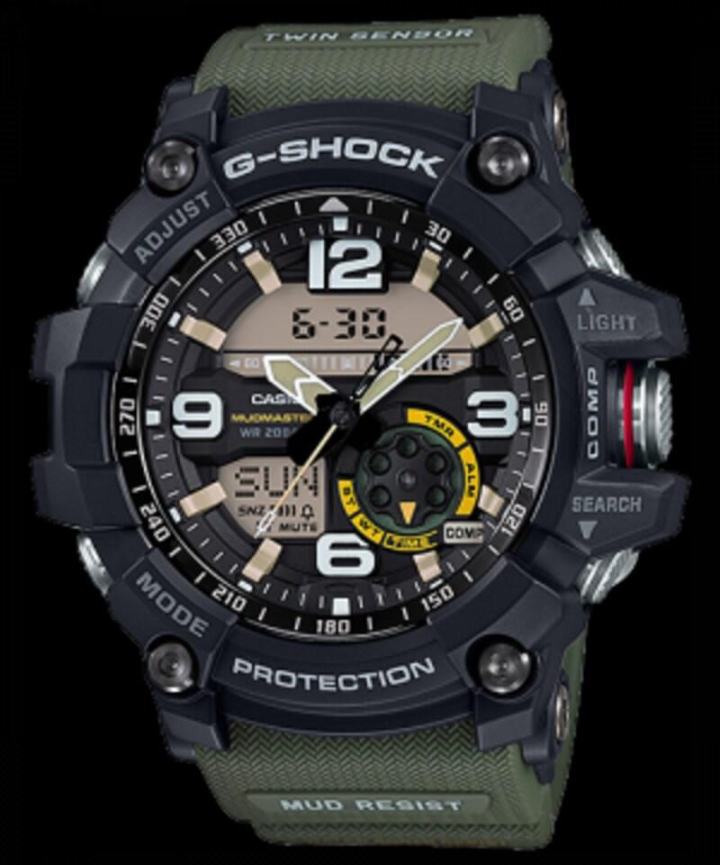 G-SHOCK「マッドマスターGG-1000-1A3JF」¥37,000(税抜き)undefinedケース径55.3mm、重量約94g、20気圧防水、クォーツ