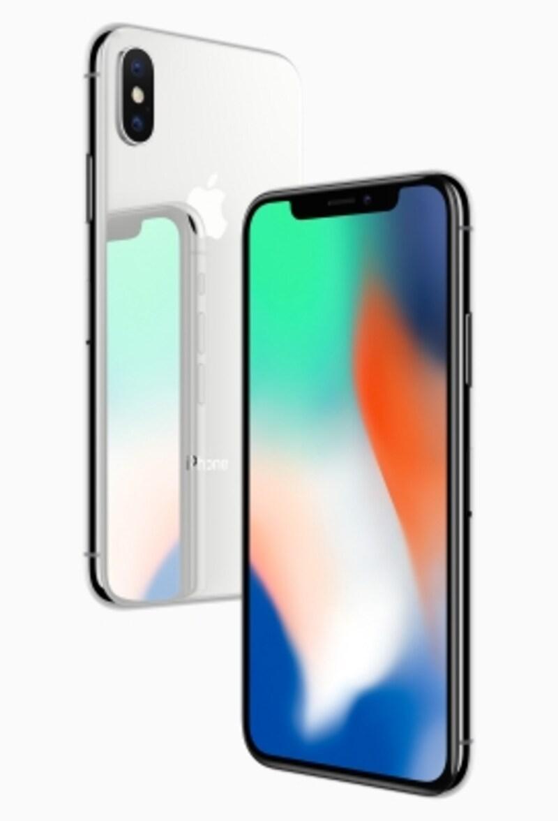 iPhoneXのディスプレイは4片とも狭額縁で、サイズは5.8インチ