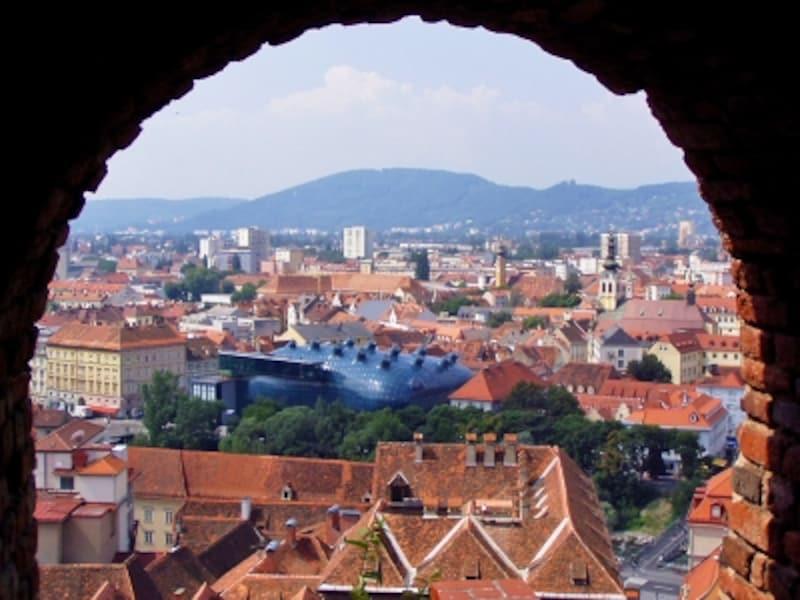 シュロスベルクから眺めた歴史地区