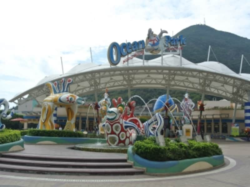 香港海洋公園のエントランス