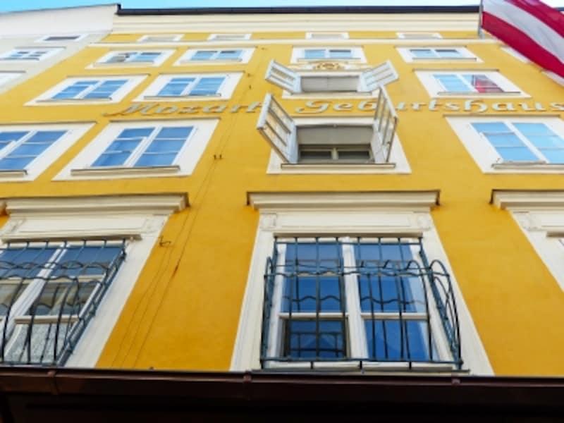 ゲイライデ通り、モーツァルトの生家が入ったビル