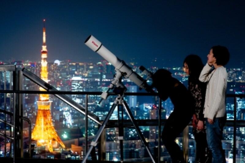 天体望遠を使って星空観測