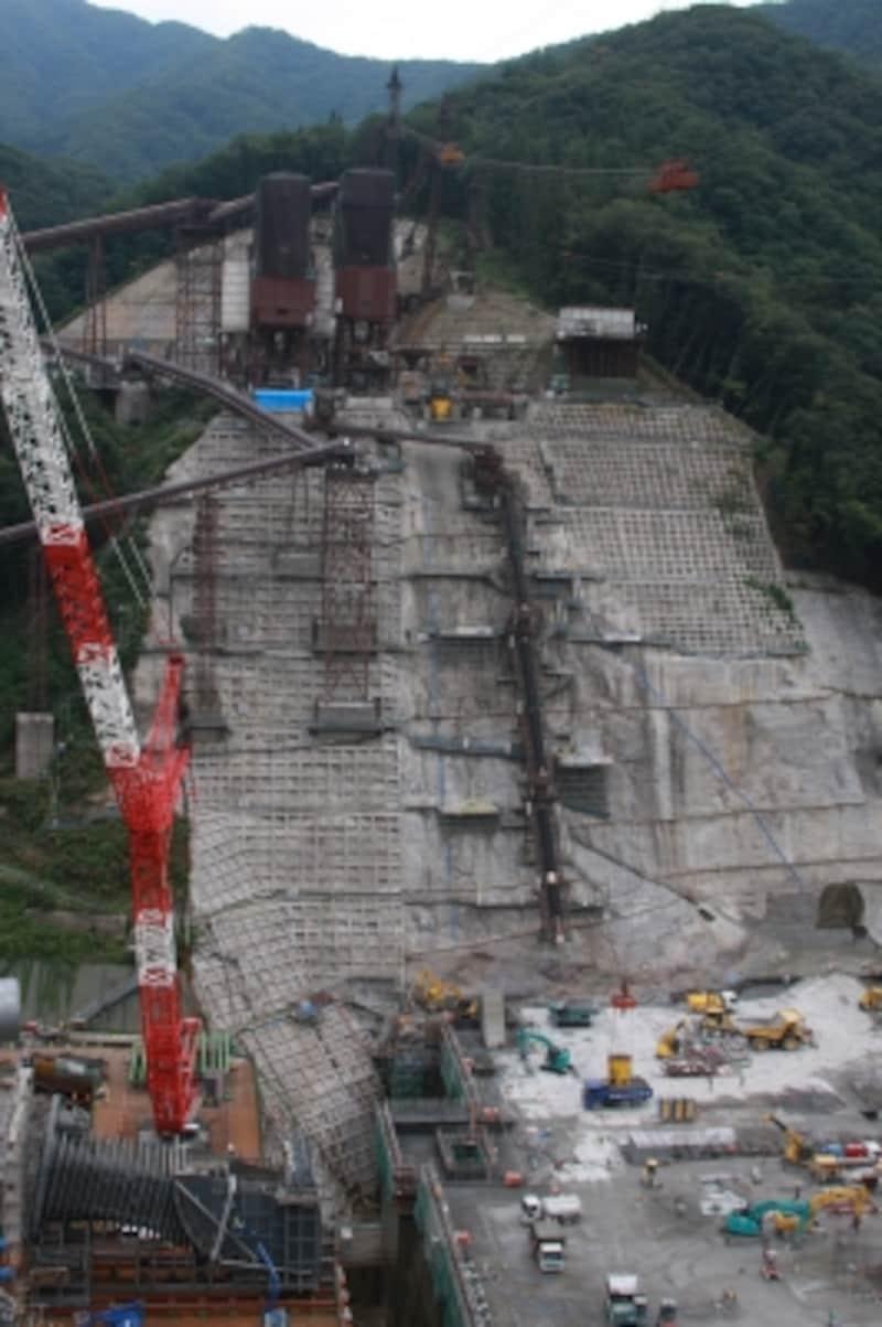 八ッ場ダム工事現場