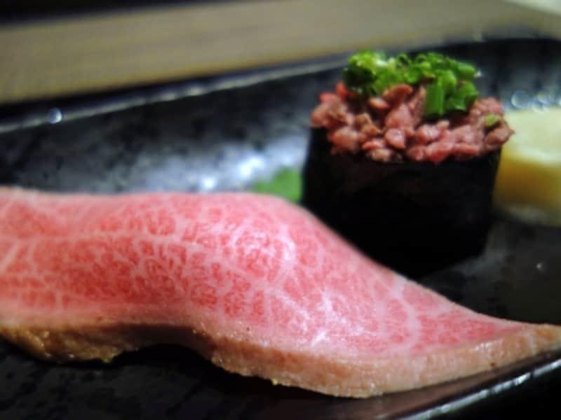 すみれ.牛肉の握り.牛肉.牛肉の寿司.Beefsushi.beefsushi.
