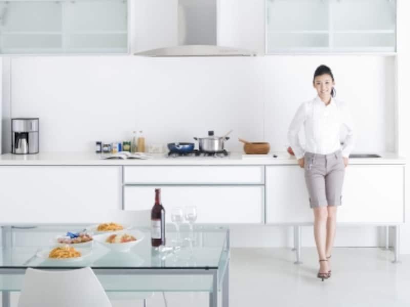 システムキッチンのステンレス引き出し