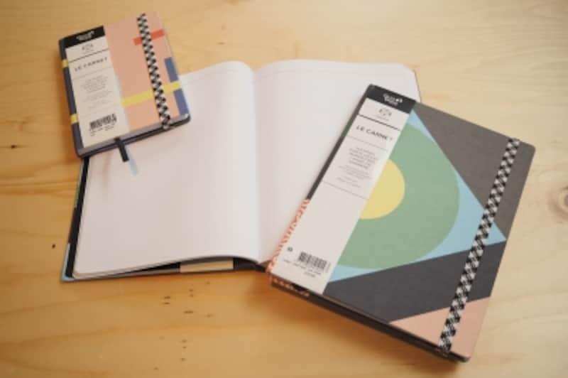 クオバディスとコラボした手帳。罫線に遊び心が。