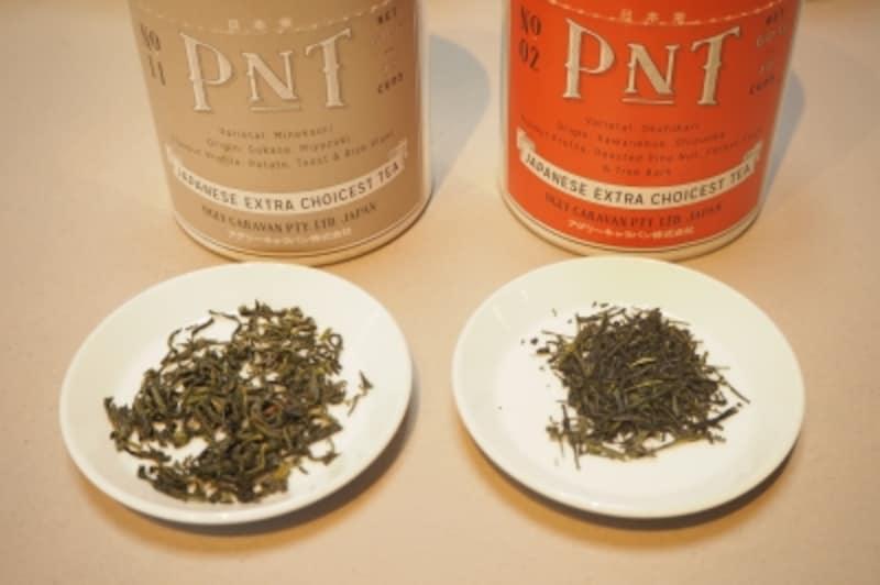 茶葉を見比べると違いがわかって面白いです。