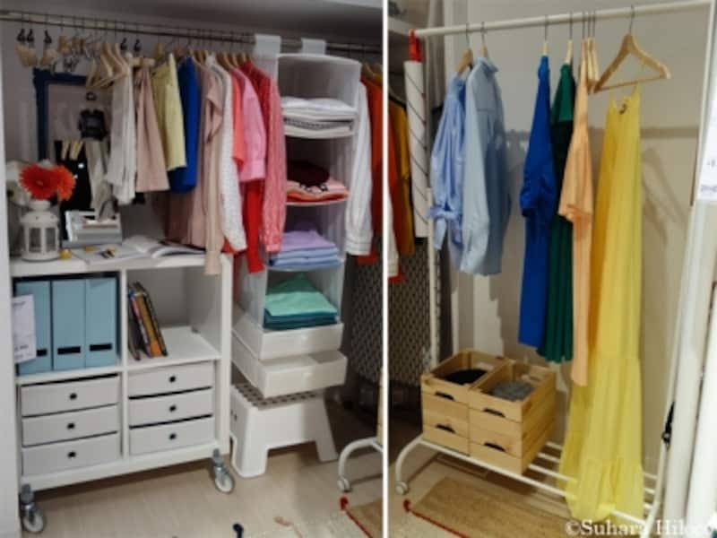 イケアの洋服収納法