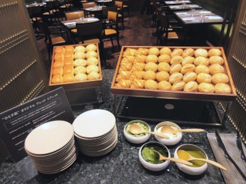 カナデテラスパンのブッフェ台
