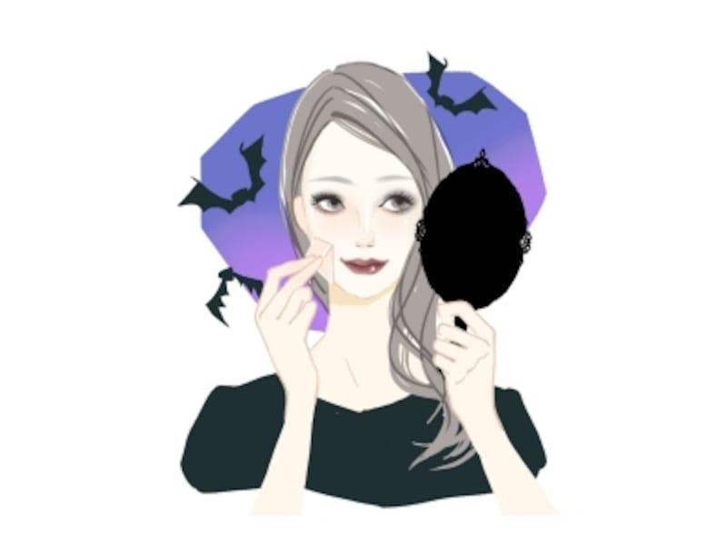 地黒の肌を青白くメイクする方法