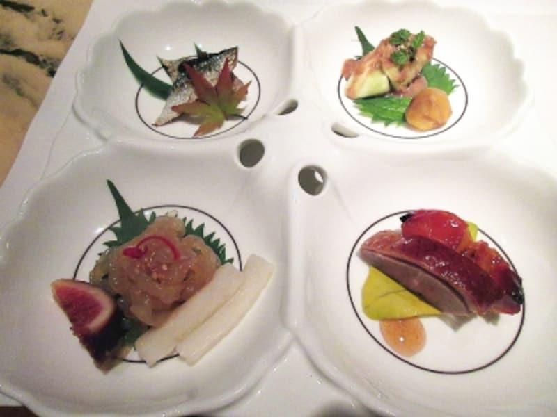 ヘイフンテラス秋刀魚の香味焼き入り広東式前菜の盛り合わせ