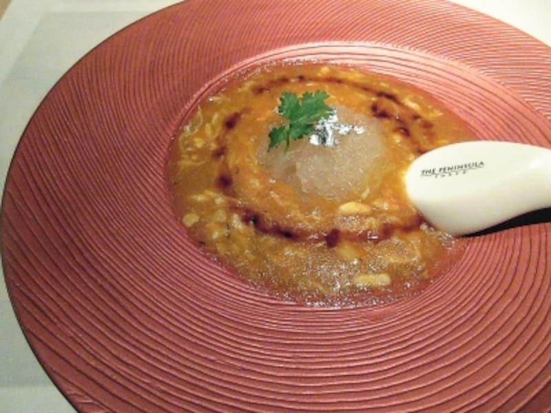ヘイフンテラス燕の巣と蟹肉入り上海蟹味噌スープ