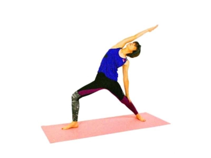 シャンティ・ヴィラバドラーサナ4undefined膝が伸びてしまわないように注意。腰が反り過ぎていないか?など骨盤まわりの筋肉を意識しましょう