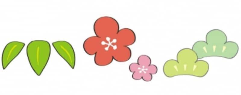 松竹梅のイラスト