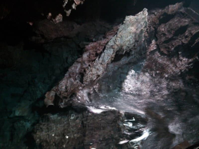 龍泉洞(6)/洞内を流れる水の透明度は抜群