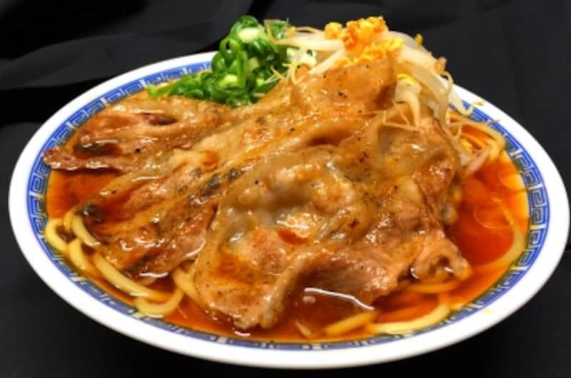 【山梨】炙り肉盛り甲州丸大豆醤油ラーメン(まぐちゃんラーメン)/TRS2017第2幕-5