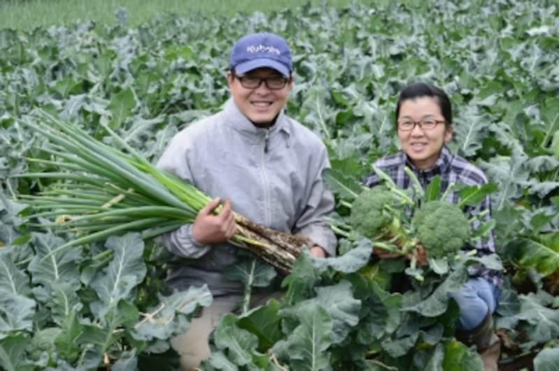農家の夫婦