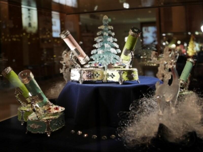 「小樽オルゴール堂」とコラボし、アンティークオルゴールも展示されています(2017年11月6日撮影)