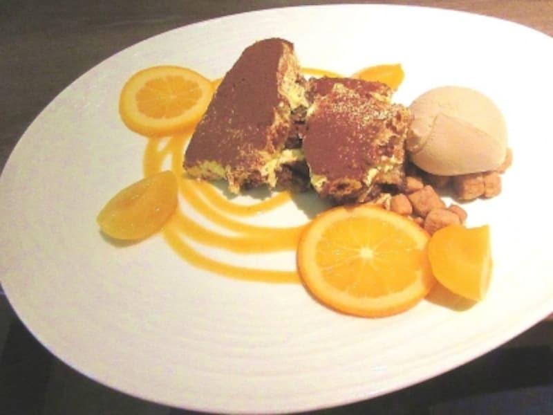 オレンジのティラミスアマレットの香りアイス