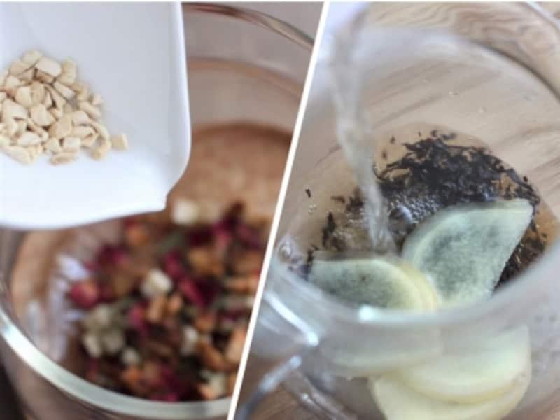 保存性の高い乾燥ショウガと香りもよい生ショウガ