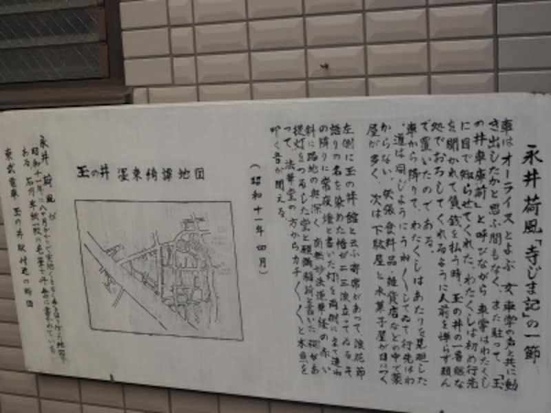 『墨東奇譚』の取材で描いた玉ノ井の地図も紹介されている