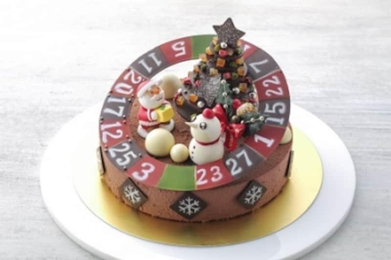 ルーレットでクリスマスundefinedチョコレートケーキ