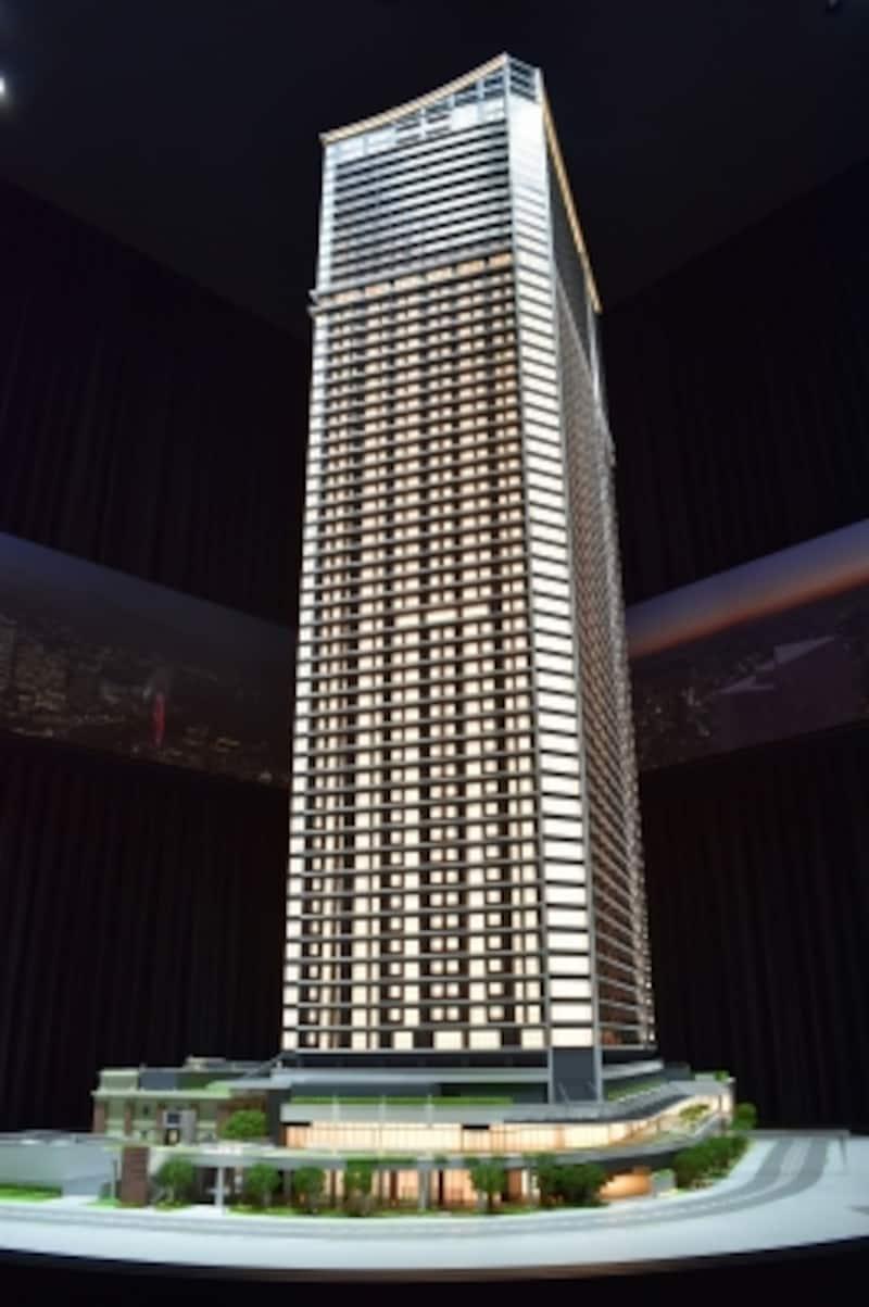 「ザ・タワー横浜北仲」の完成予想模型