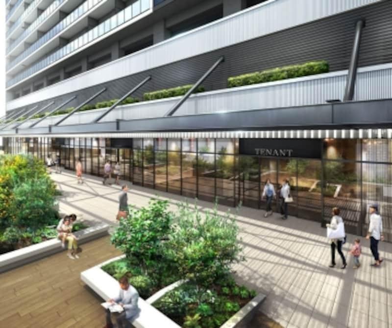 「ザ・タワー横浜北仲」のマリンデッキ完成予想図