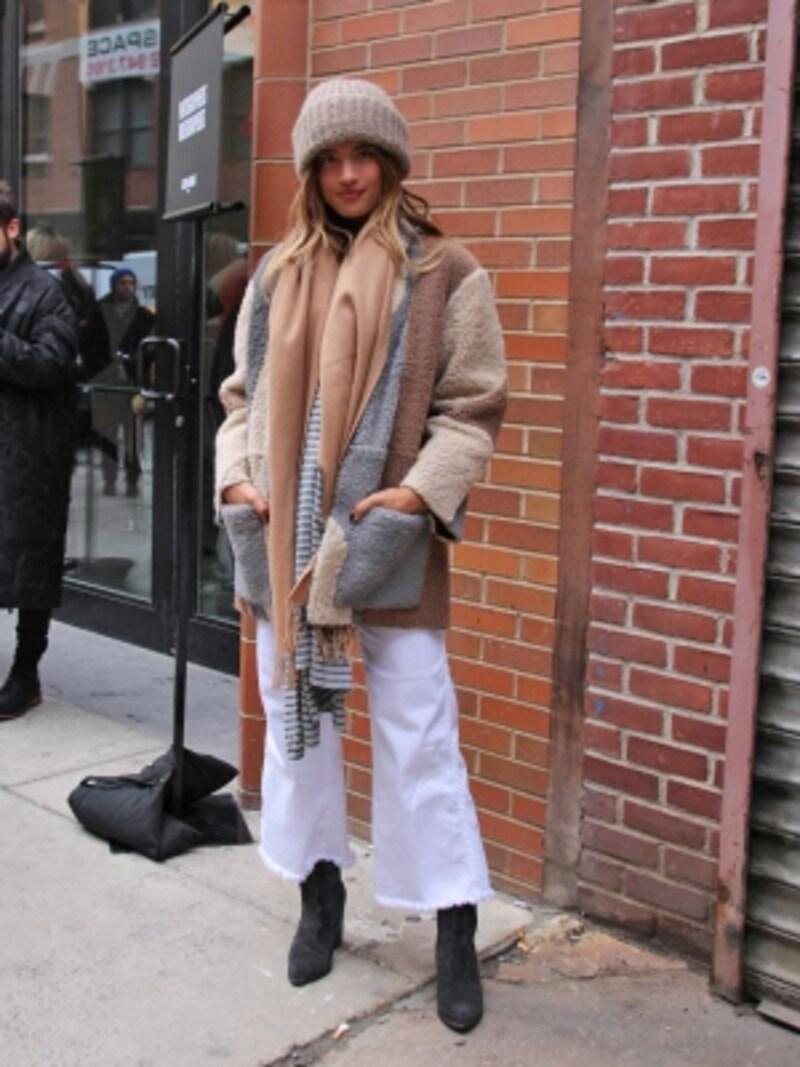 白パンツで冬コーデをさわやかにundefined(c)RieMiyata