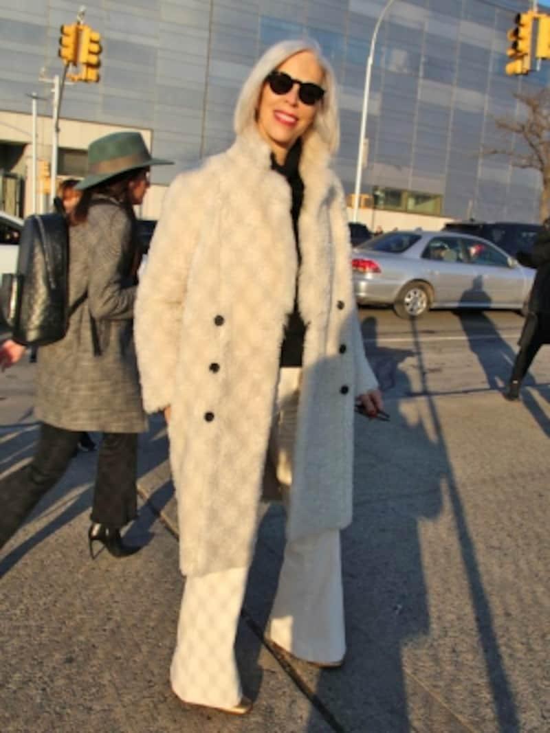 冬の装いを格上げしてくれるホワイトコーデundefined(c)RieMiyata