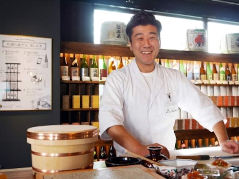 その日仕入れた魚介類で、寿司職人がひとつひとつていねいに握ってくれます(2017年11月17日撮影)