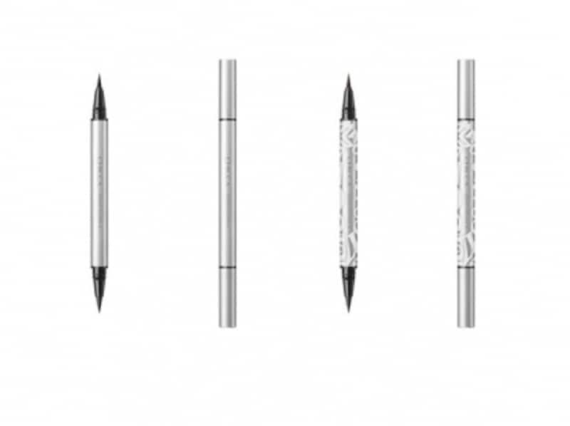01アビス(左)、EX01バルサミコ限定色(右)。1本のペンで2種類の太さの線が描ける