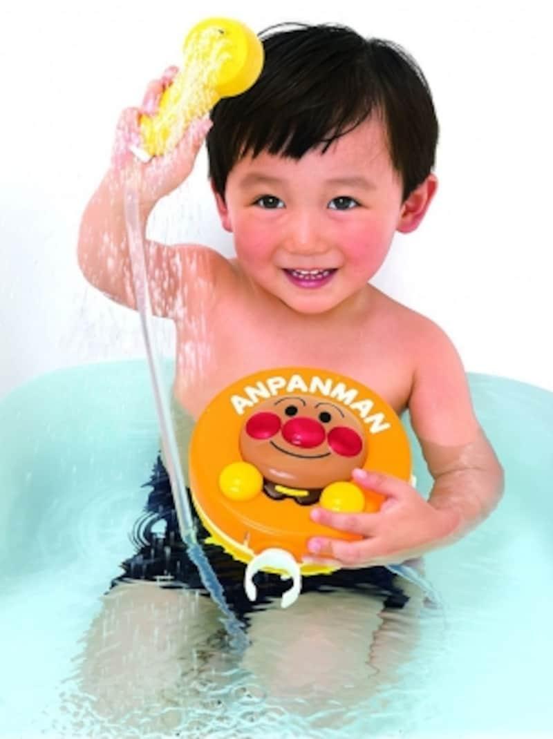 顔が濡れるのが苦手な子もアンパンマンと一緒なら勇気100倍!