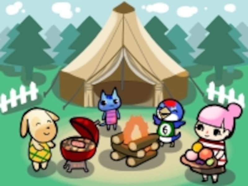 どうぶつの森ポケットキャンプの図