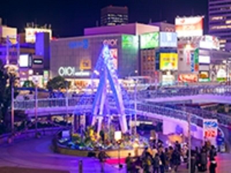 三宮駅前のクリスマスイルミネーション