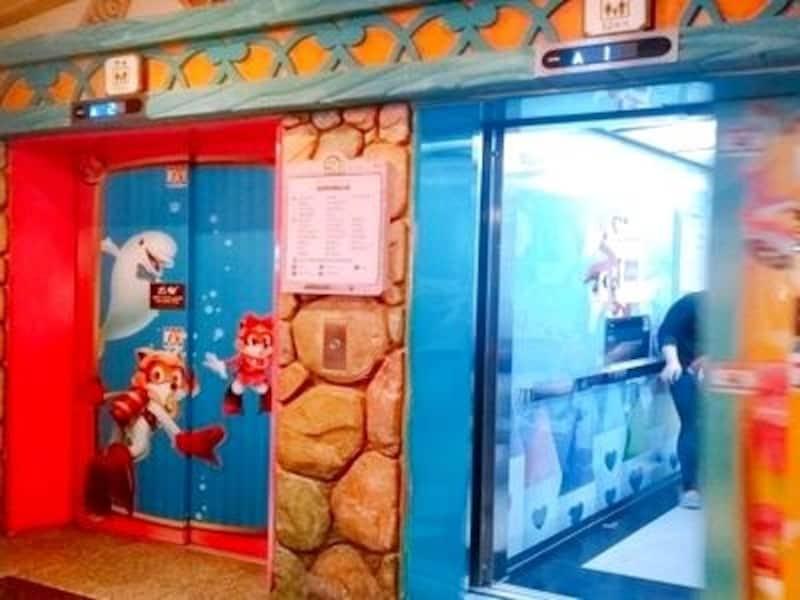 エレベーターで移動する遊園地も珍しいところ