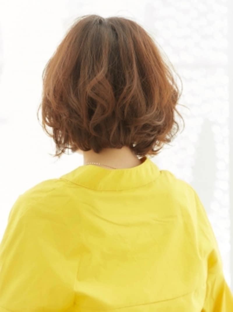 30代・40代に似合う髪型「ひし形ボブ」