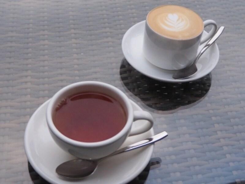 ちょっと肌寒いので、あったかい飲み物がうれしいね