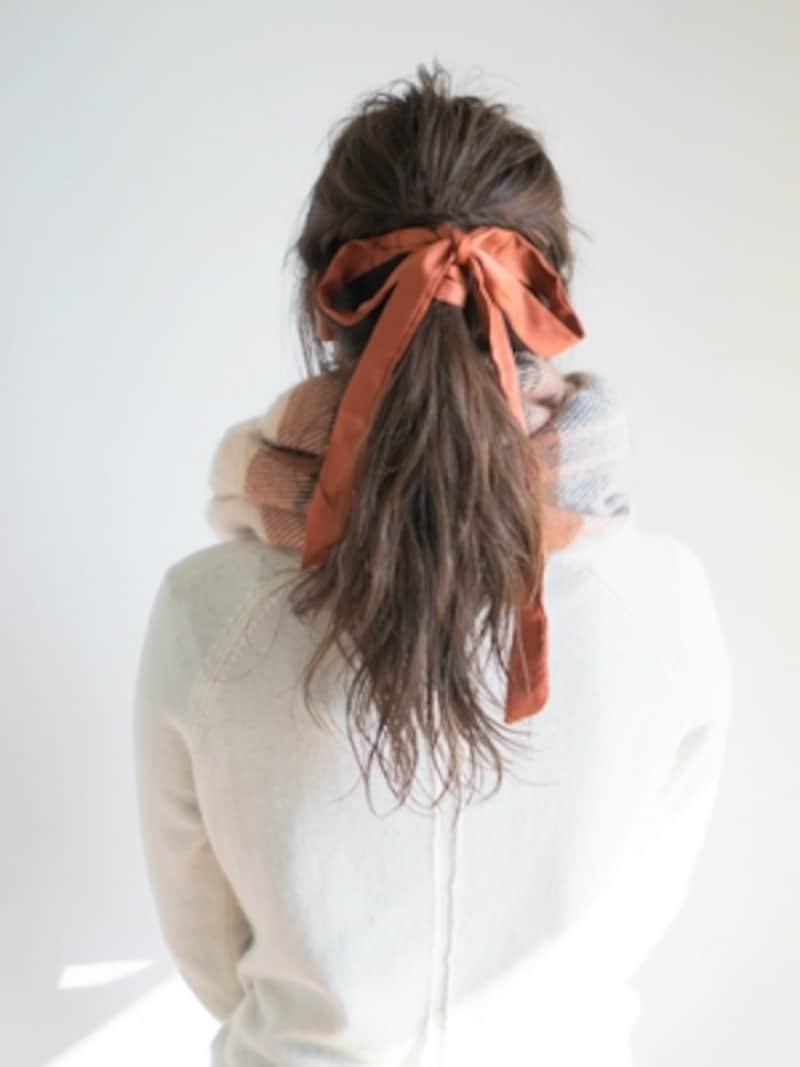 冬マフラーに似合う!簡単で崩れにくいヘアアレンジ