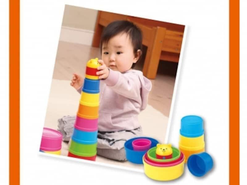 高く重ねて積んでみたり、色遊びをしたりと、さまざまな遊びが楽しめます