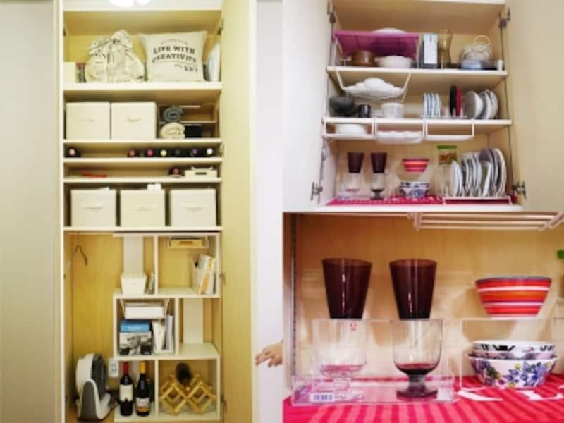 一人暮らしの部屋実例。モノが見渡しやすく、取り出しやすい収納。他の人に見せられる収納を作るのはなかなか難しいこと