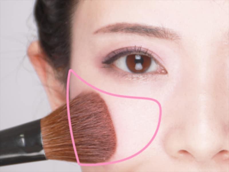 チークで顔のバランスを整えましょう