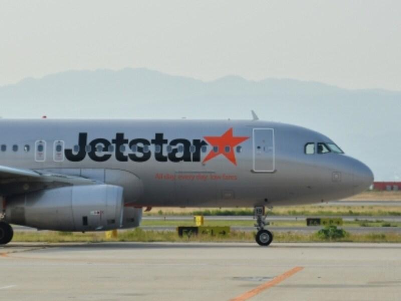 成田から台北への便を運航するLCC「ジェットスター・ジャパン」
