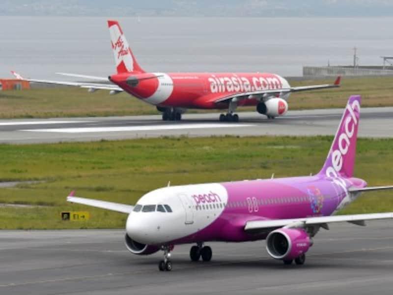 関西空港は台湾へのLCCが最も多い空港です。PeachやエアアジアXなどが就航しています