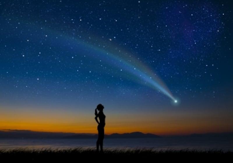 肉眼で尾をひく彗星の姿が見られるかも!