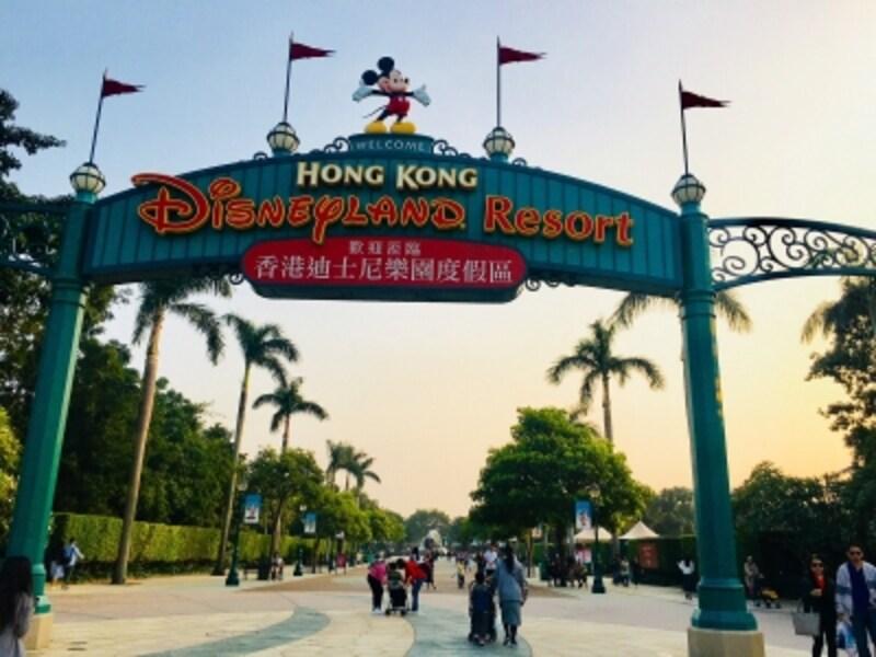 香港ディズニーランドはここから徒歩5分