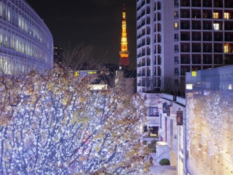 都市の景観を鮮やかに彩るイルミネーション。LED照明の色は年々、鮮やさを増しています