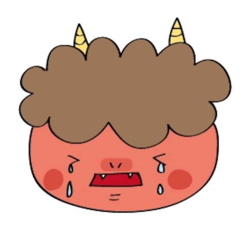 泣いている赤鬼 イラスト カラー かわいい