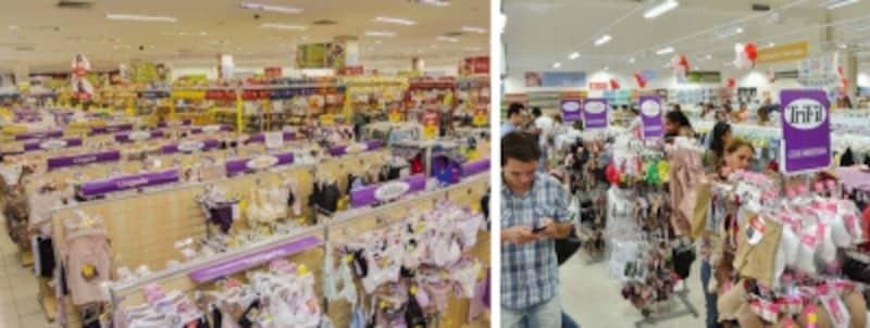 大型スーパーの下着売り場
