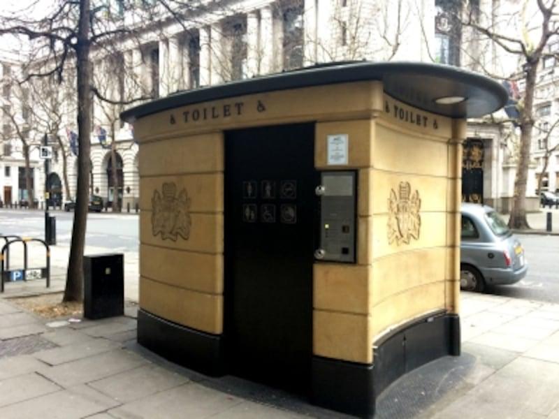 ロンドン、ストランドの全自動公衆トイレ